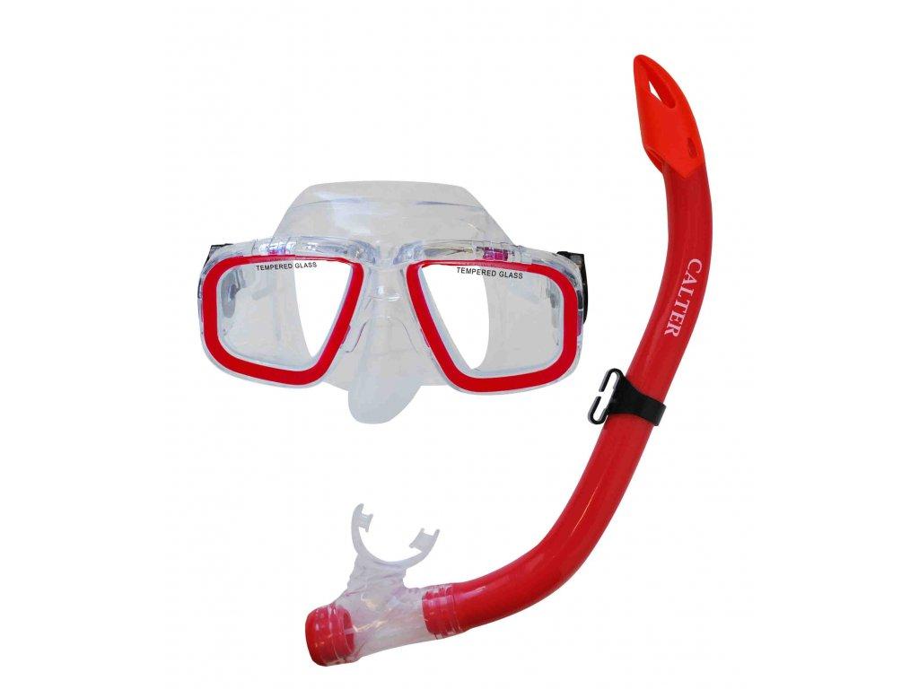 Potápěčský set CALTER JUNIOR S9301+M229 P+S, červený