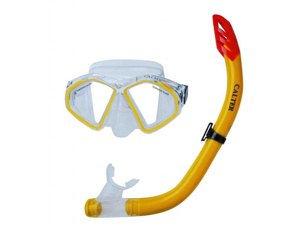 Potápěčský set CALTER SENIOR S09+M283 P+S, žlutý