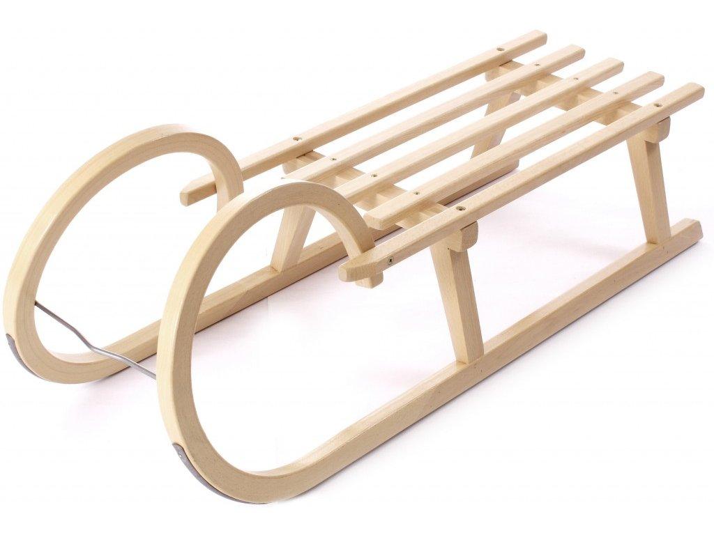 Dřevěné saně SULOV SPORT, sedák dřevo, 105cm