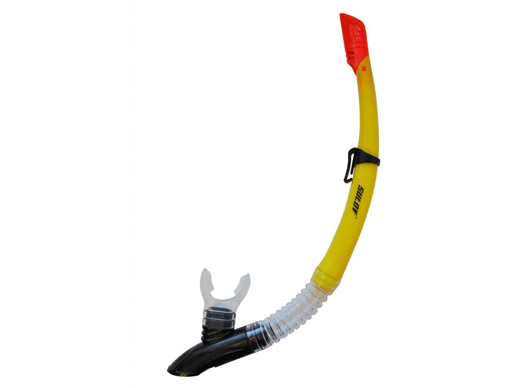 Šnorchl CALTER ADULT 63PVC-SILICON, žlutý