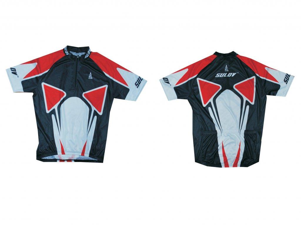 Cyklistický dres SULOV, vel. červený