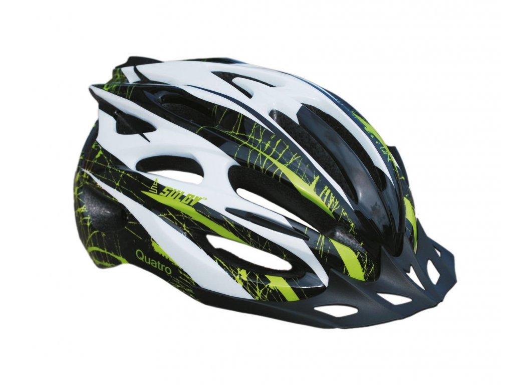 Cyklo helma SULOV QUATRO, černo-zelená