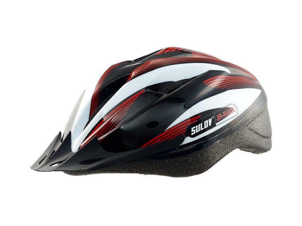 Dětská cyklo helma SULOV JR-RACE-B, černo-bílá