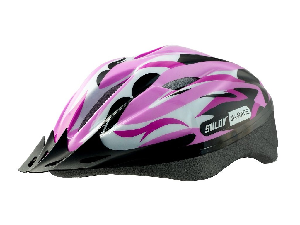 Dětská cyklo helma SULOV JR-RACE-G, růžovo-zelená