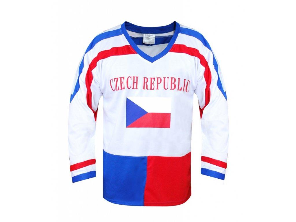 Hokejový dres ČR 7, bílý