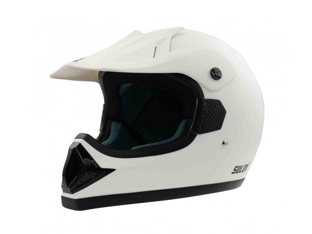 Motocyklová přilba SULOV MADMAN, matná bílá