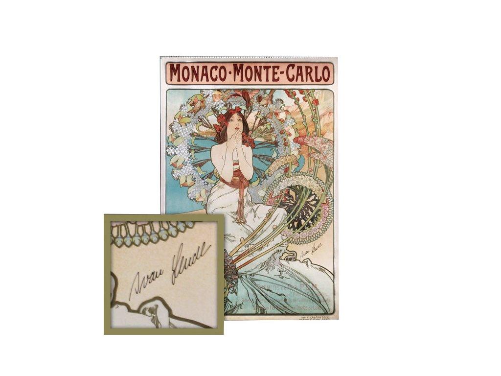 Mucha Monaco Podpis Lendl