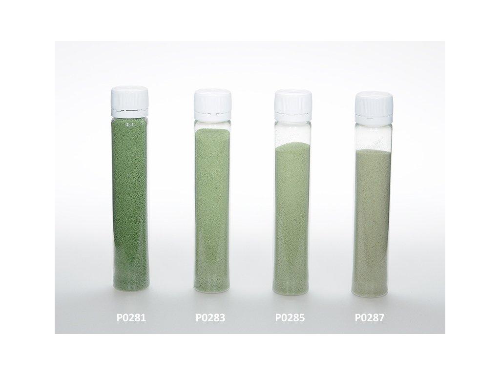 Barevný písek - tmavě zelená barva