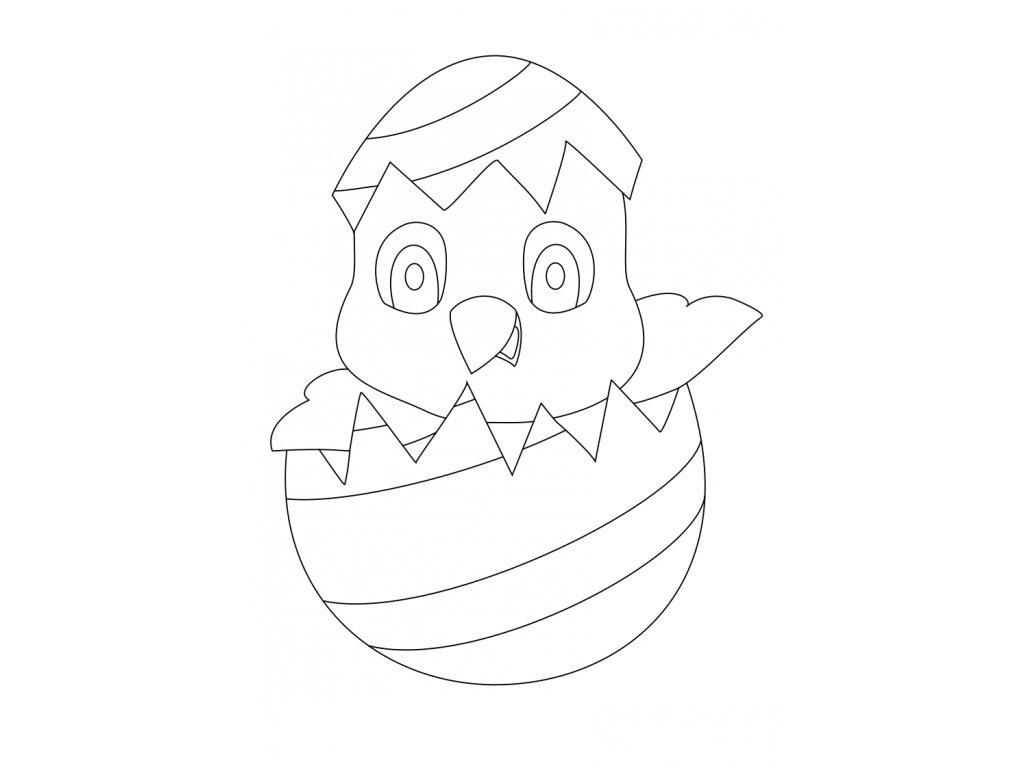 Šablona Velikonoční motiv kuřátko