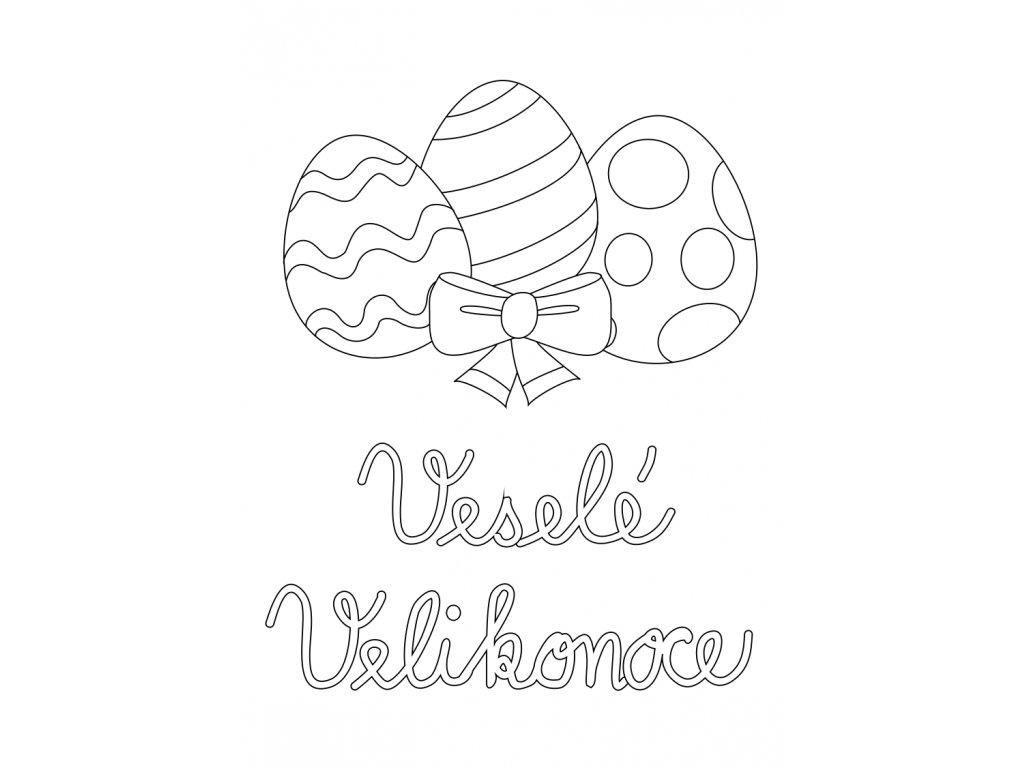Šablona Velikonoční motiv vajíčka