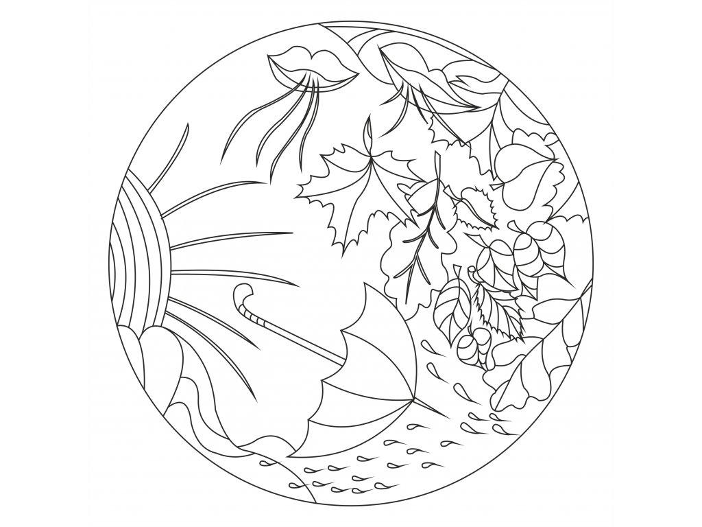 Šablona Mandala 0527