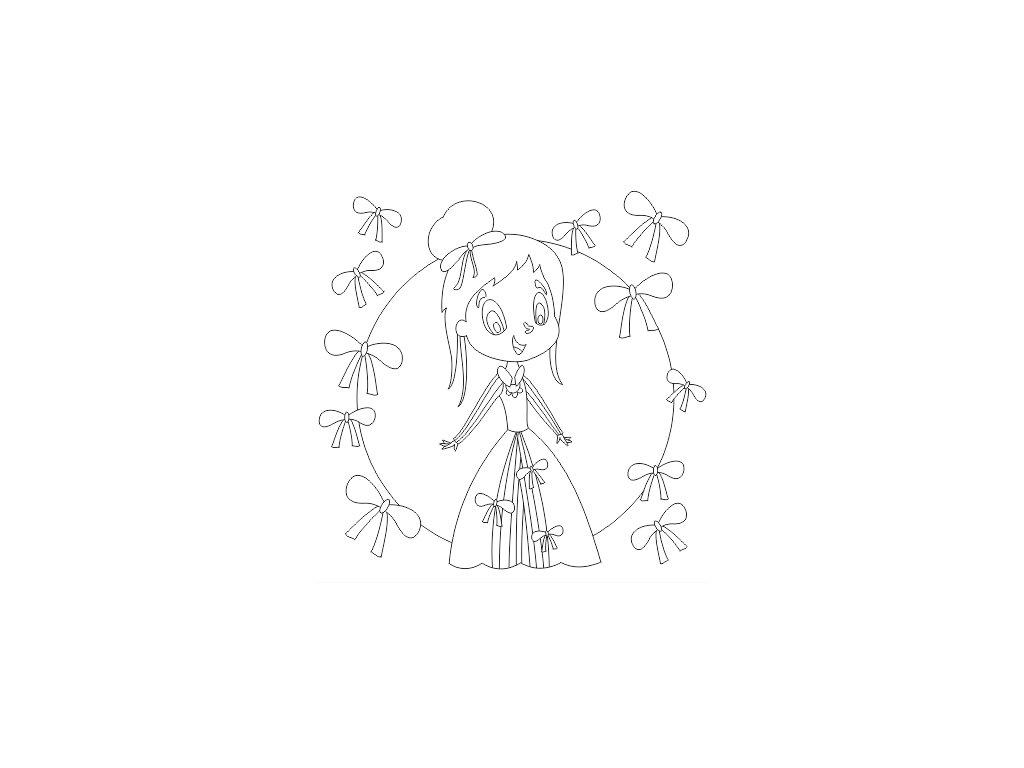 Šablona Princezna s mašlemi