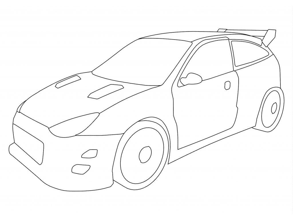 Šablona Rally auto