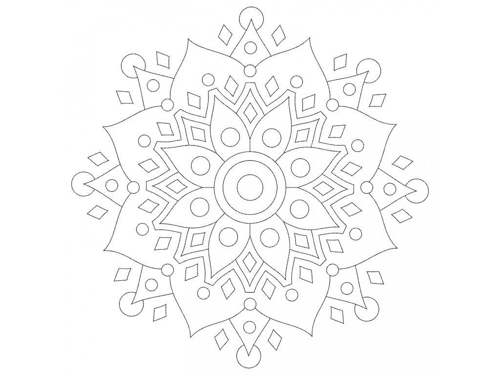 Šablona Mandala 0530