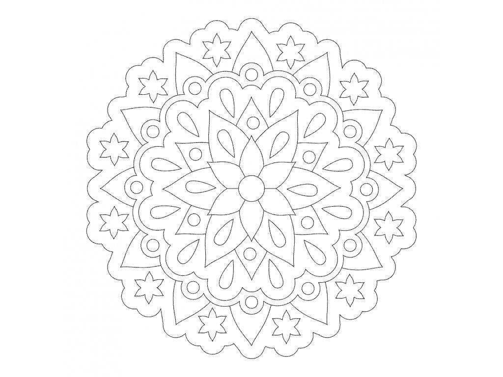 Šablona Mandala 0531