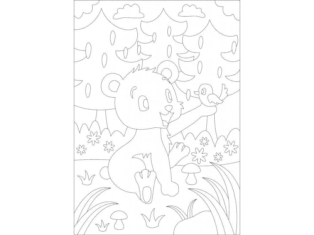 Šablona Medvídek