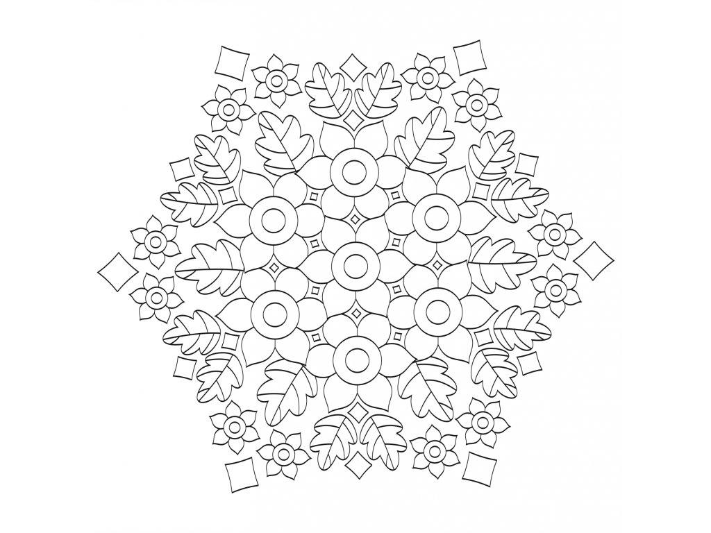 Šablona Mandala 0537