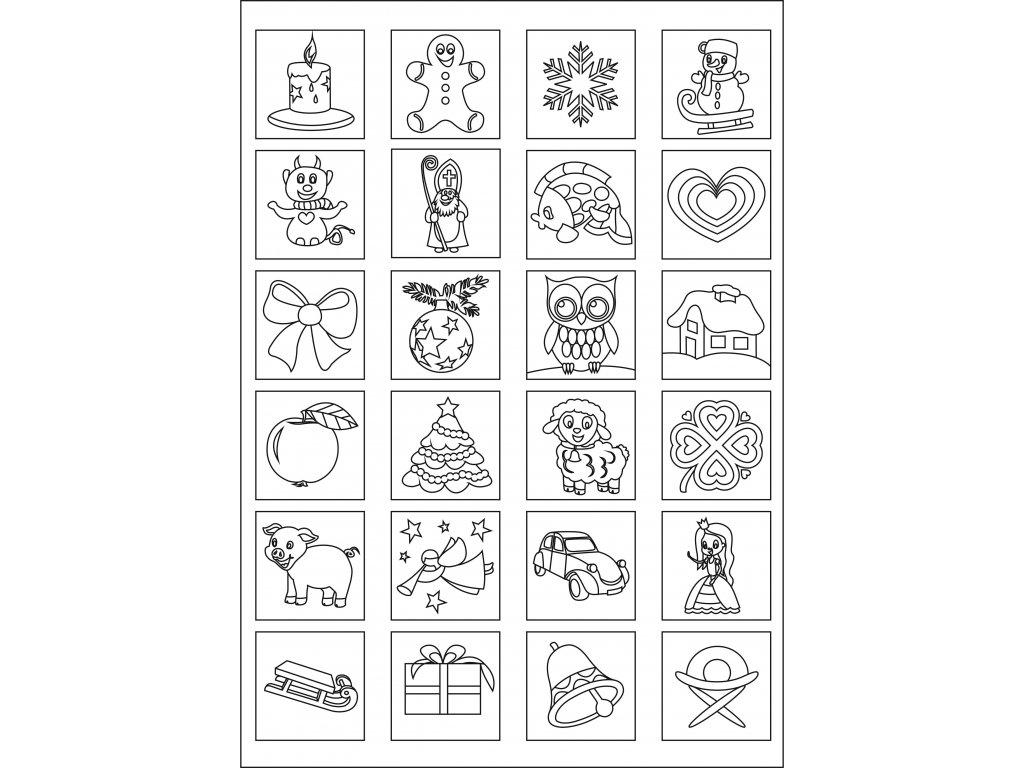 Šablona Adventní kalendář