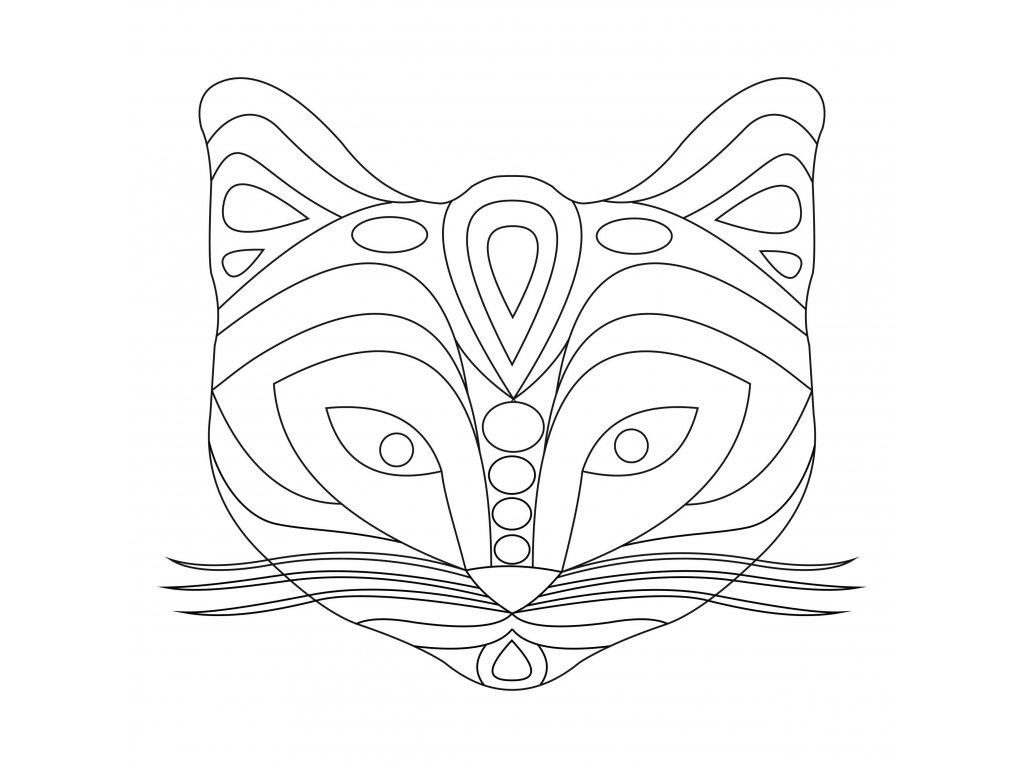 Šablona Hlava lišky