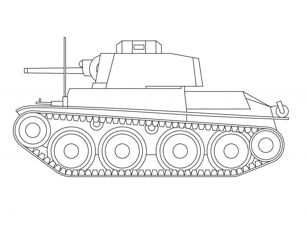 Šablona Tank československý LT38