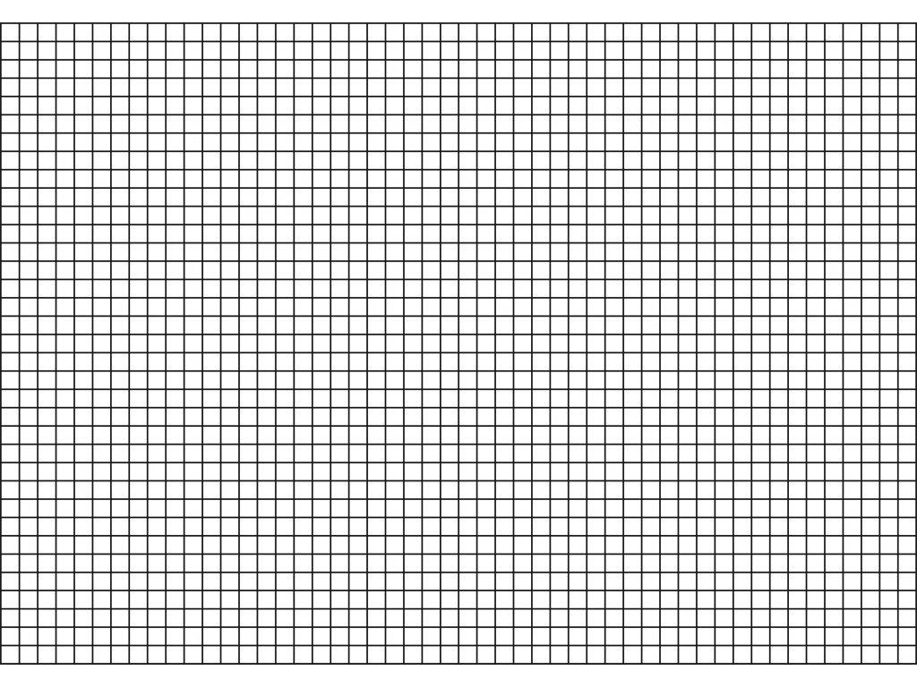 Šablona Rastr - čtverec