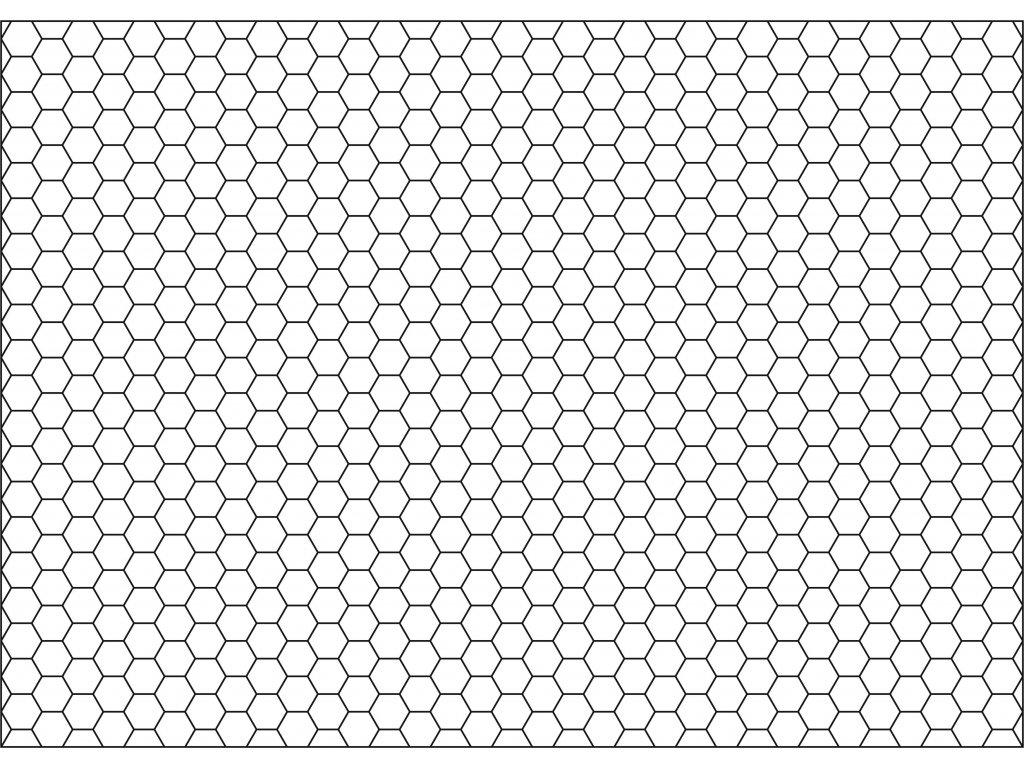 Šablona Rastr - šestiúhelník
