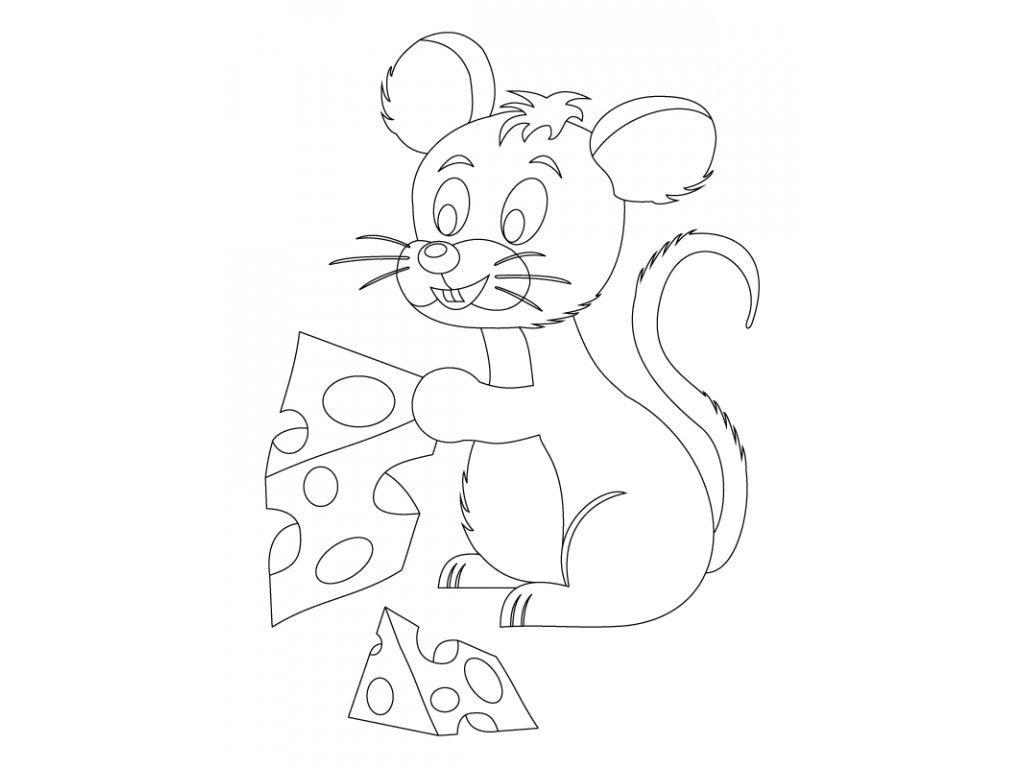 Šablona Myšička