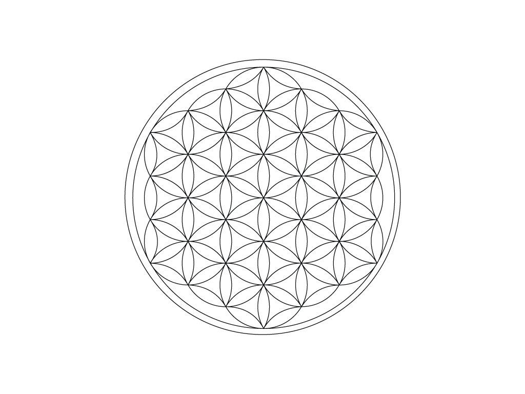 Šablona Mandala Květ života