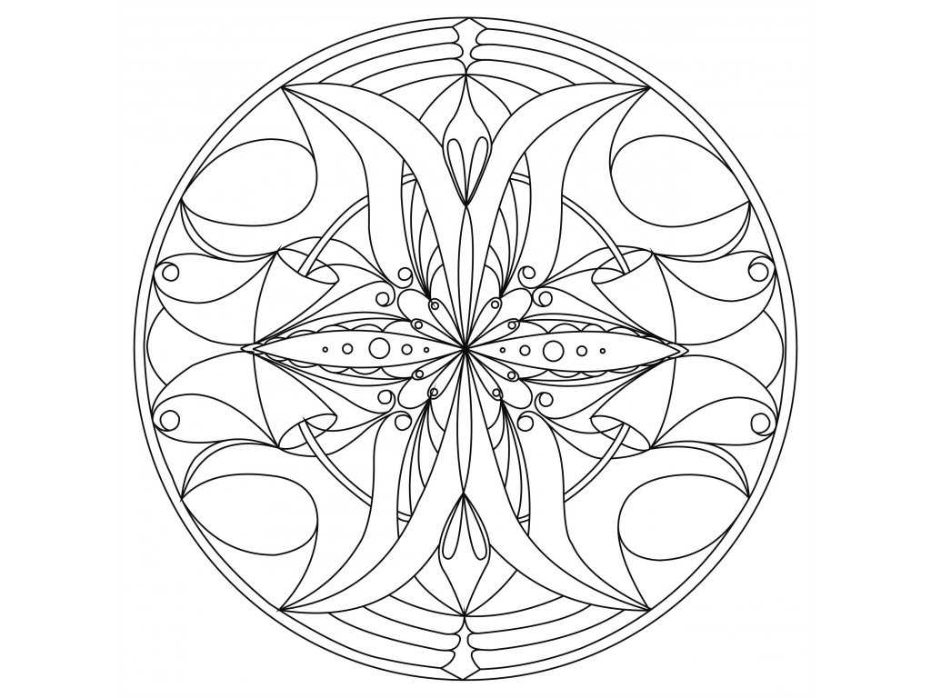 Šablona Mandala 0114