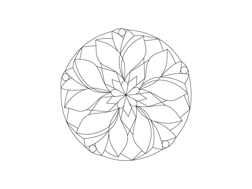 Šablona Mandala 0410
