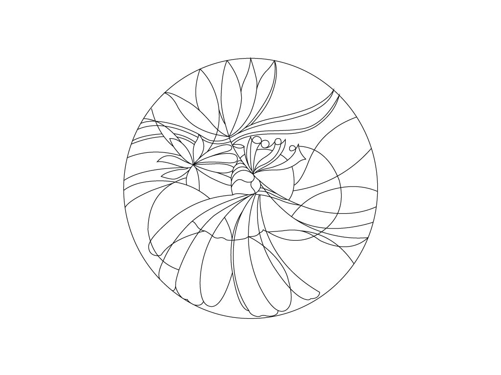 Šablona Mandala 0404