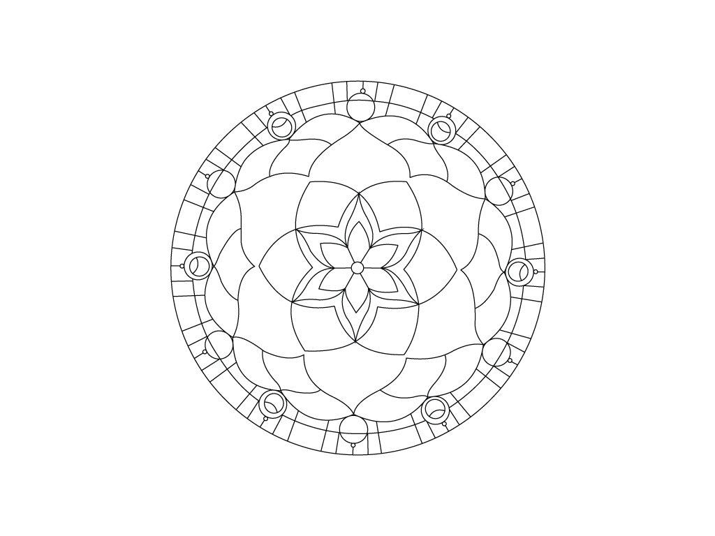 Šablona Mandala 0403