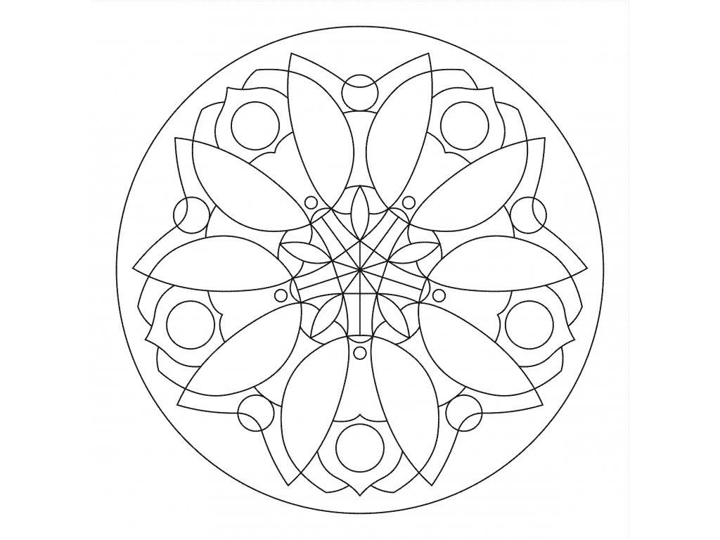 Šablona Mandala 0402
