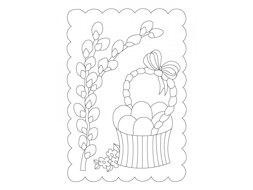 Šablona Velikonoční motiv košíček