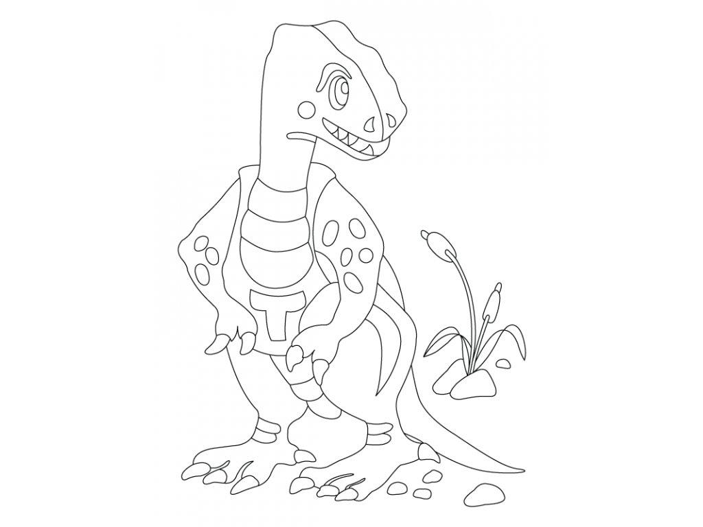 Šablona Dinosaurus Tyranosaurus Rex