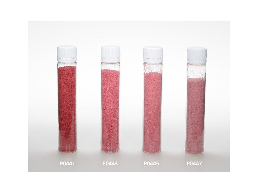 Barevný písek - vínově červená barva