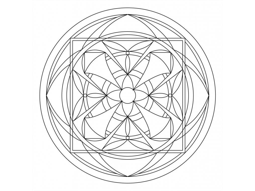 Šablona Mandala 0103