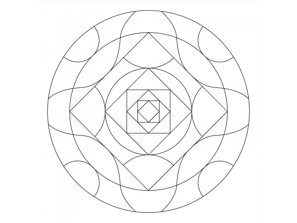 Šablona Mandala 0512