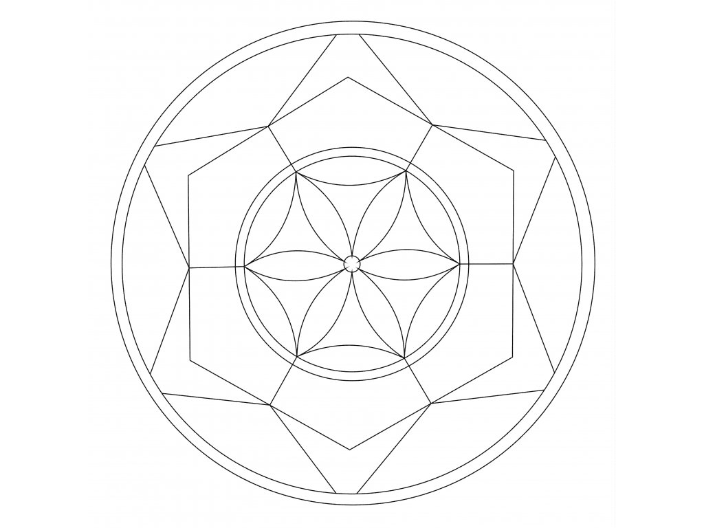 Šablona Mandala 0504