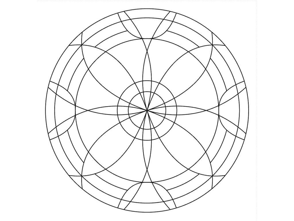 Šablona Mandala 0521
