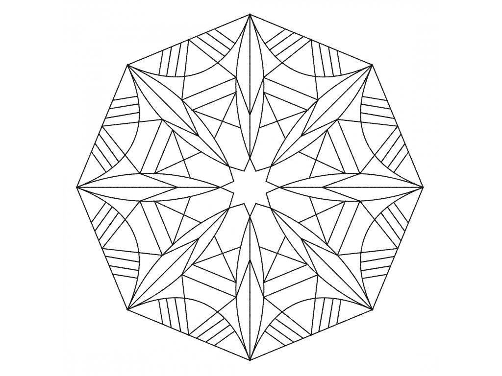 Šablona Mandala 0522