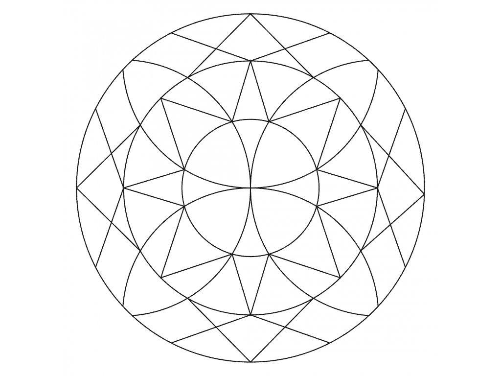 Šablona Mandala 0524