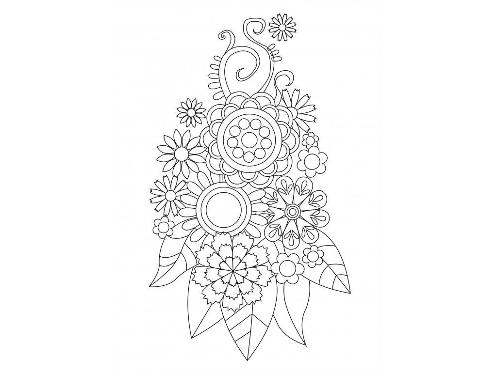 Šablona Květiny