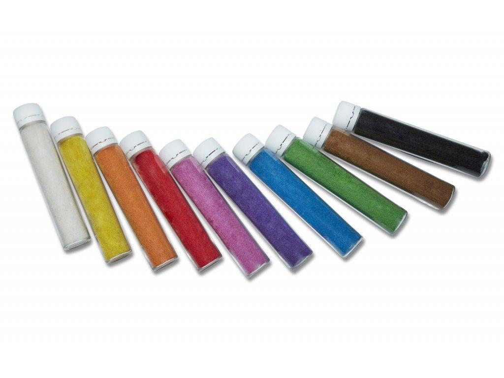 Sada barevného písku 10 ks - tmavý odstín 1
