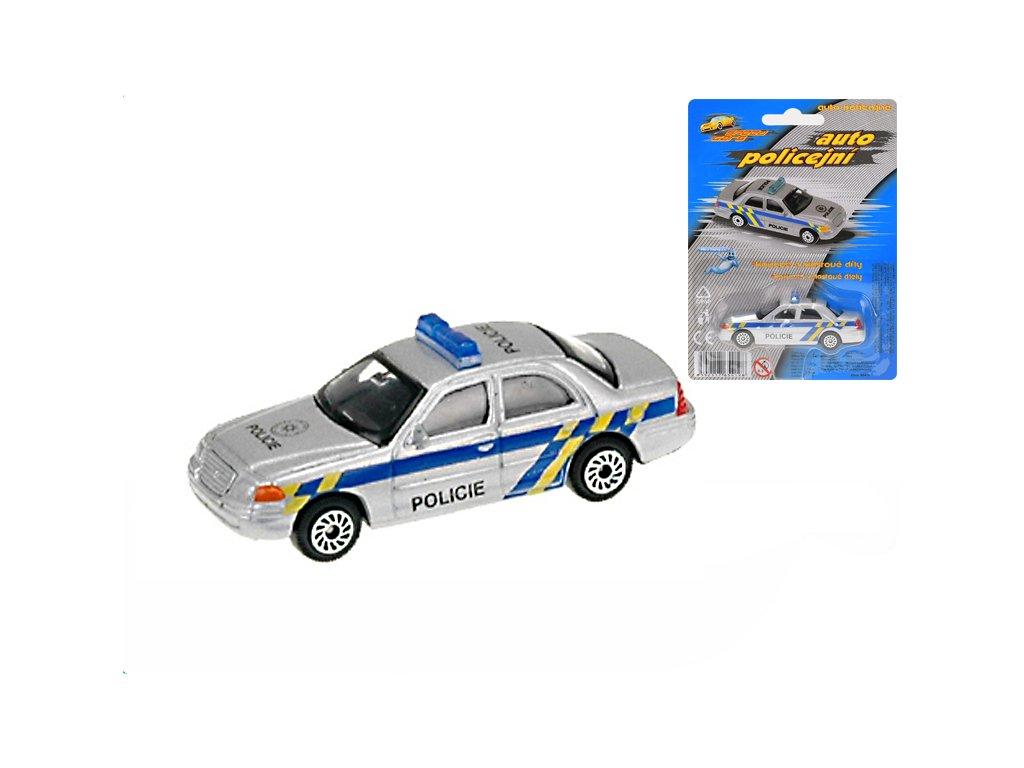 Auto policie CZ 7cm kov na kartě