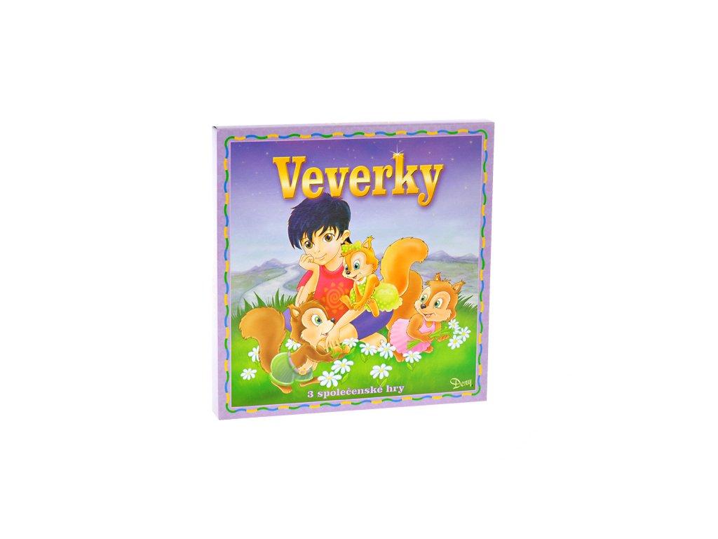 Společenská hra Veverky v krabičce