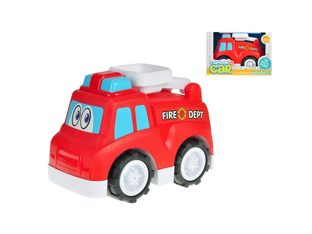 Auto hasičské veselé 25cm volný chod 18m+ v krabičce
