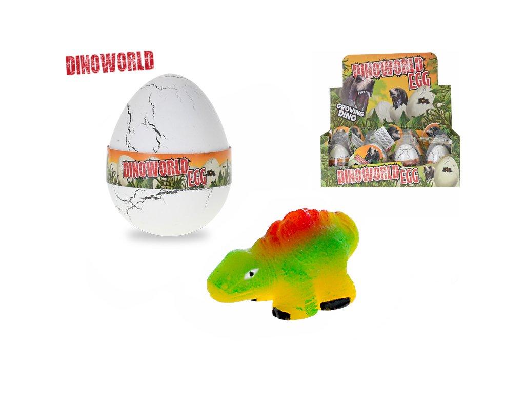Dinosaurus líhnoucí a rostoucí ve vajíčku 12ks v DBX