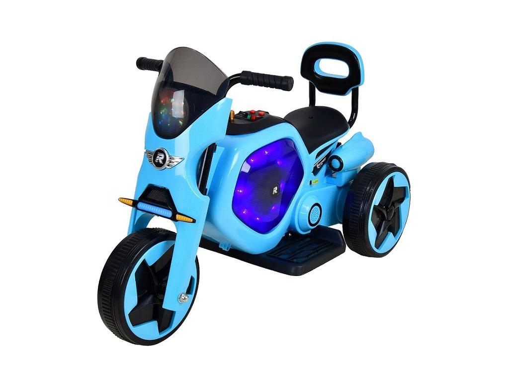 Elektrická dětská trojkolka RACCEWAY, modrá