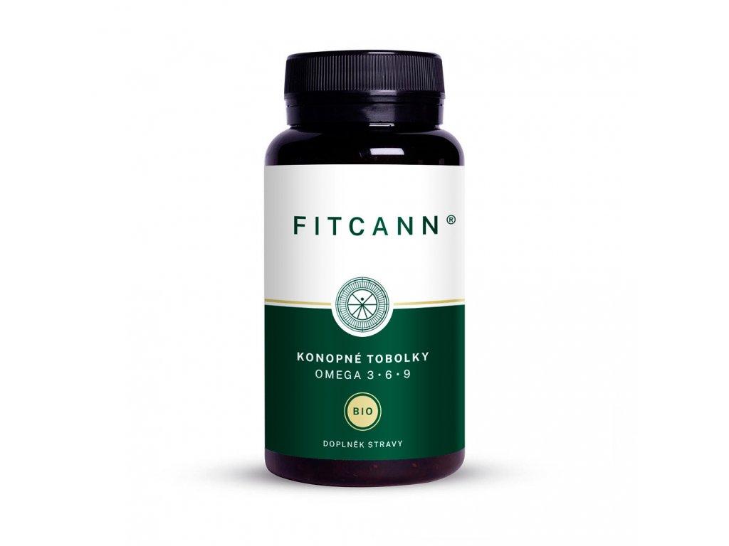 FITCANN Bio konopné tobolky s vitamínem E, RAW